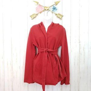 Lucky Brand Kimono Hooded Wrap Sz M